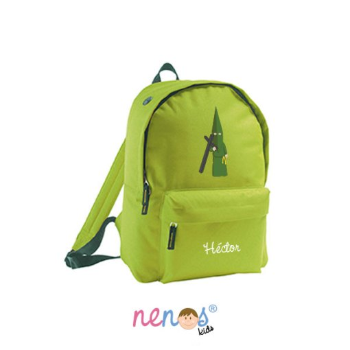 Mochila escolar personalizada Nazareno Verde