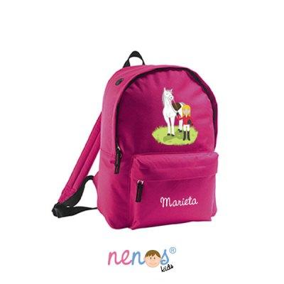 Mochila escolar personalizada Hípica Niña