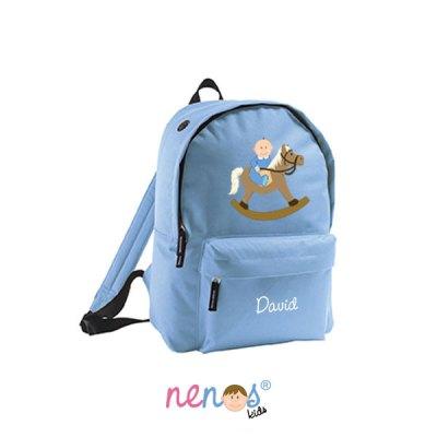 Mochila escolar personalizada Bebé Caballito Niño