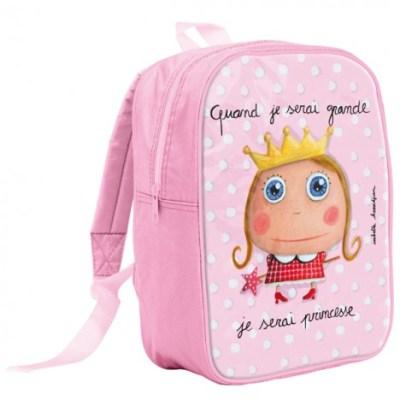 """Mochila escolar """"Cuando sea mayor seré una princesa"""""""