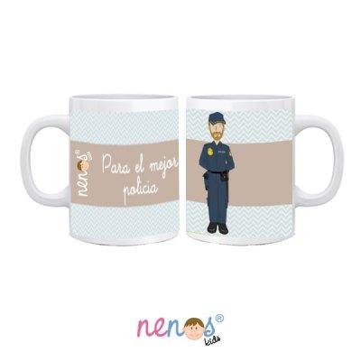 taza personalizada hombre policía