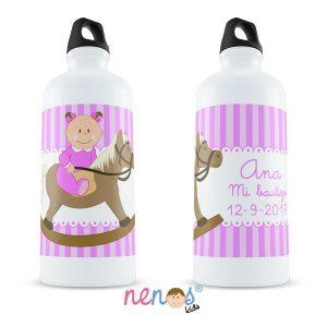 Botella Termo Personalizada Bebé Niña Caballito