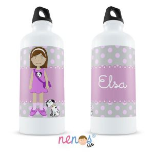 Botella Termo Personalizada Niña Con Perrito