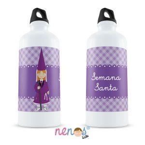 Botella Termo Personalizada Nazarena Lila 1
