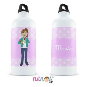 Botella Termo Personalizada Mujer Periodista