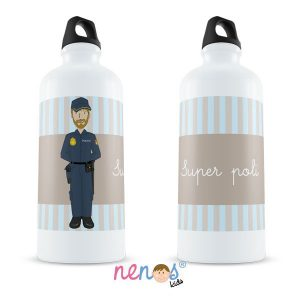 Botella Termo Personalizada Policía Hombre