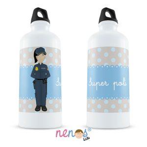 Botella Termo Personalizada Policía Mujer