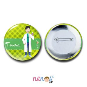 Chapa Imperdible Personalizada Farmacéutica 50mm