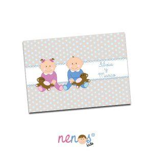 Salvamanteles Personalizado Bebés Niño y Niña