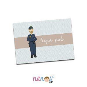 Salvamanteles Personalizado Hombre Policía