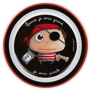 Plato infantil Cuando sea mayor, seré pirata