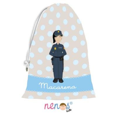 Bolsa de Desayuno Mujer Policía