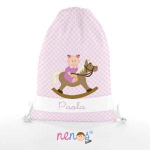 Bolsa de Piscina Bebé Niña Caballito