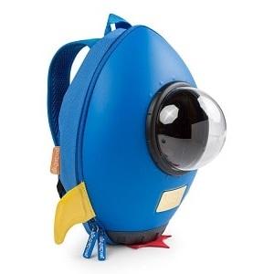Mochila infantil para guardería Cohete Azul