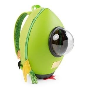 Mochila infantil para guardería Cohete Verde