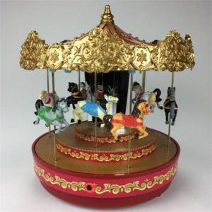 Caja de Música Navidad Carrusel Dorado