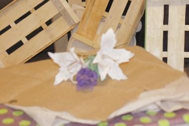 Lilium blanco de papel (2)