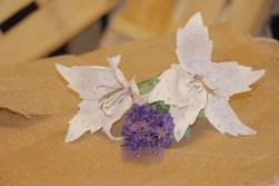 Lilium blanco de papel (9)