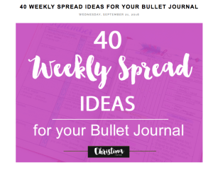 Christina77Star – 40 Weekly Spread Ideas for Your Bullet Journal