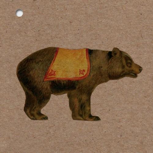 faire-part naissance kraft vintage ours