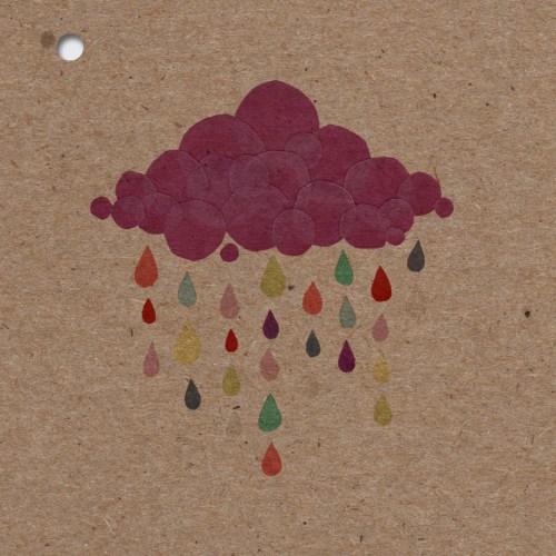 faire-part naissance theme fille avec un nuage sur la couverture