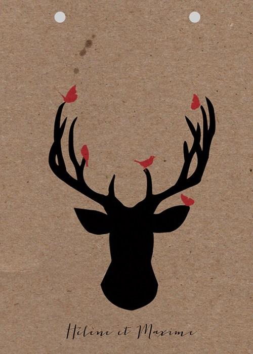 couverture en papier kraft theme nature oh deer