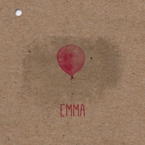 faire-part naissance papier kraft recyclé theme rose ballon