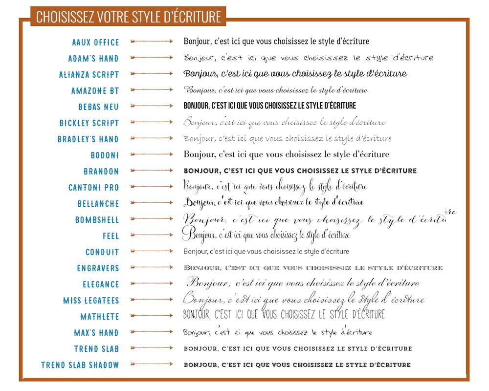 typographie faire-part mariage ou naissance