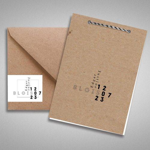 faire-part de mariage en papier recyclé moderne et design