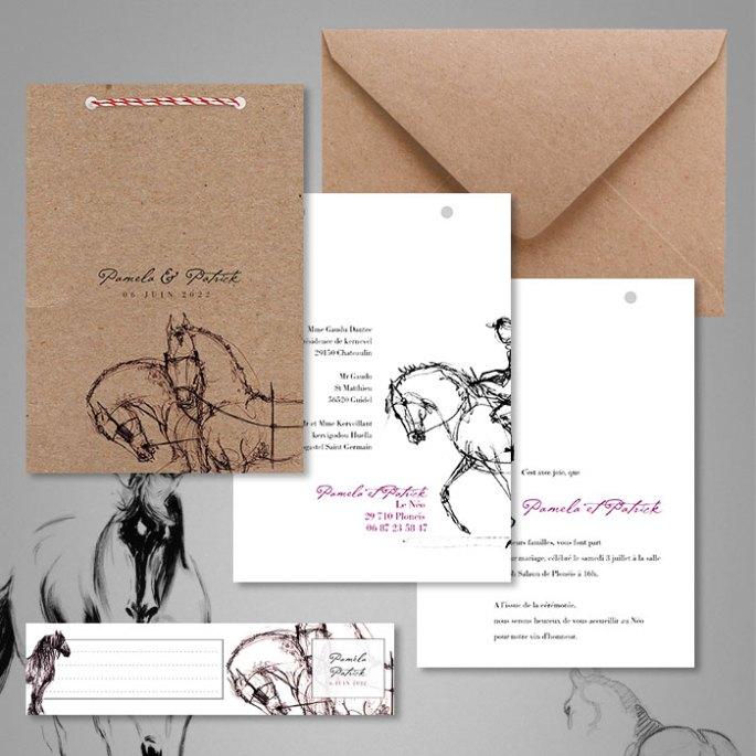 faire-part-mariage-ecoresponsable-en-papier-kraft-recyclé-theme-cheavux-1