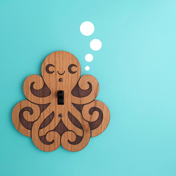 Octopus Switch Plate Cover