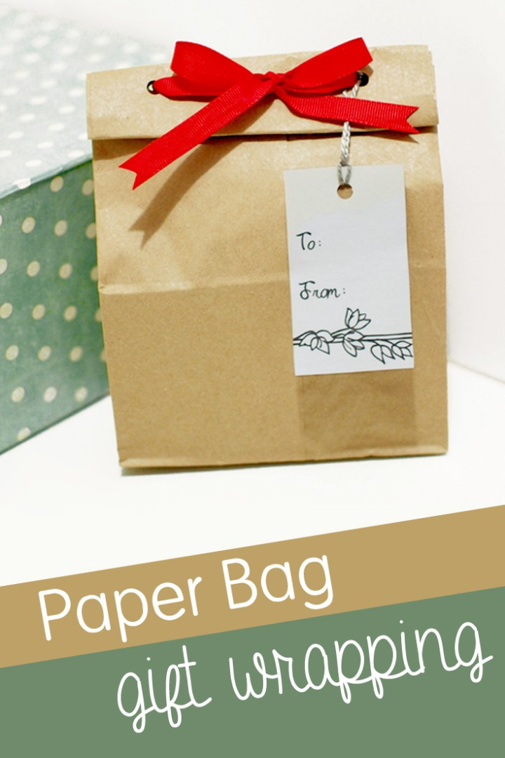 Paper Bag Gift Wrapping PIN