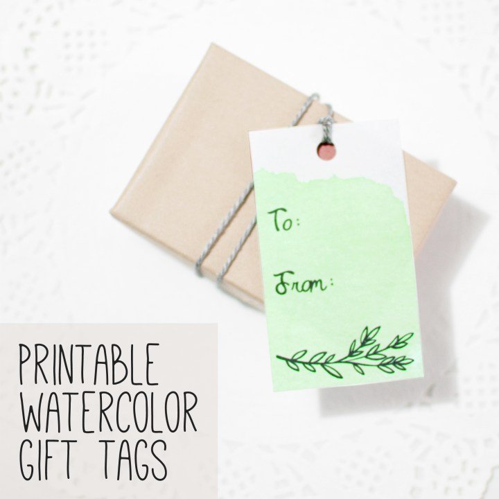 Free Printables: Watercolor Gift Tags