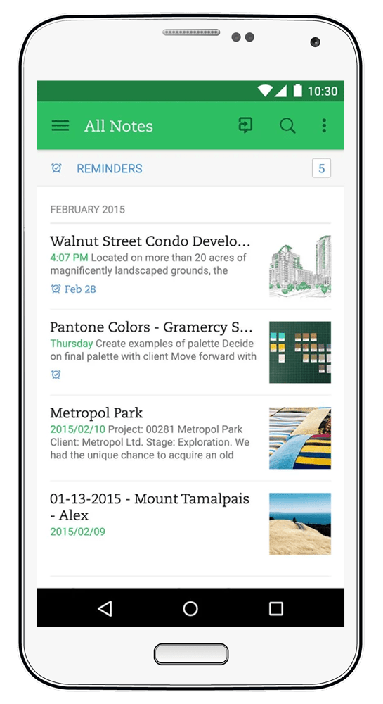 Evernote - Helpful Productivity Apps - Paper and Landscapes