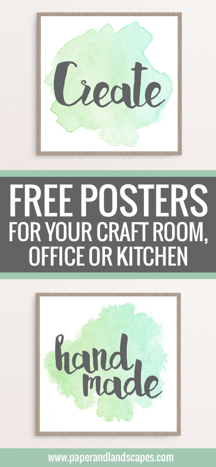 Free Printable Posters - Paper and Landscapes PIN