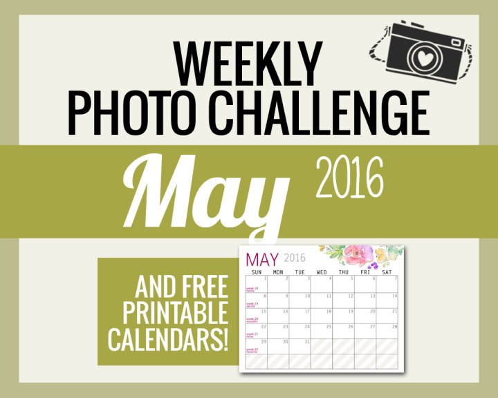PHOTO CHALLENGE WORDS FOR MAY AND FREE CALENDARS