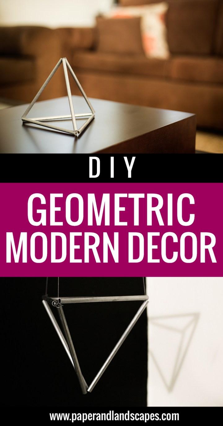 DIY Geometric Modern Decor - PINTEREST
