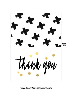 Free Printable - Thank you - Paper and Landscapes