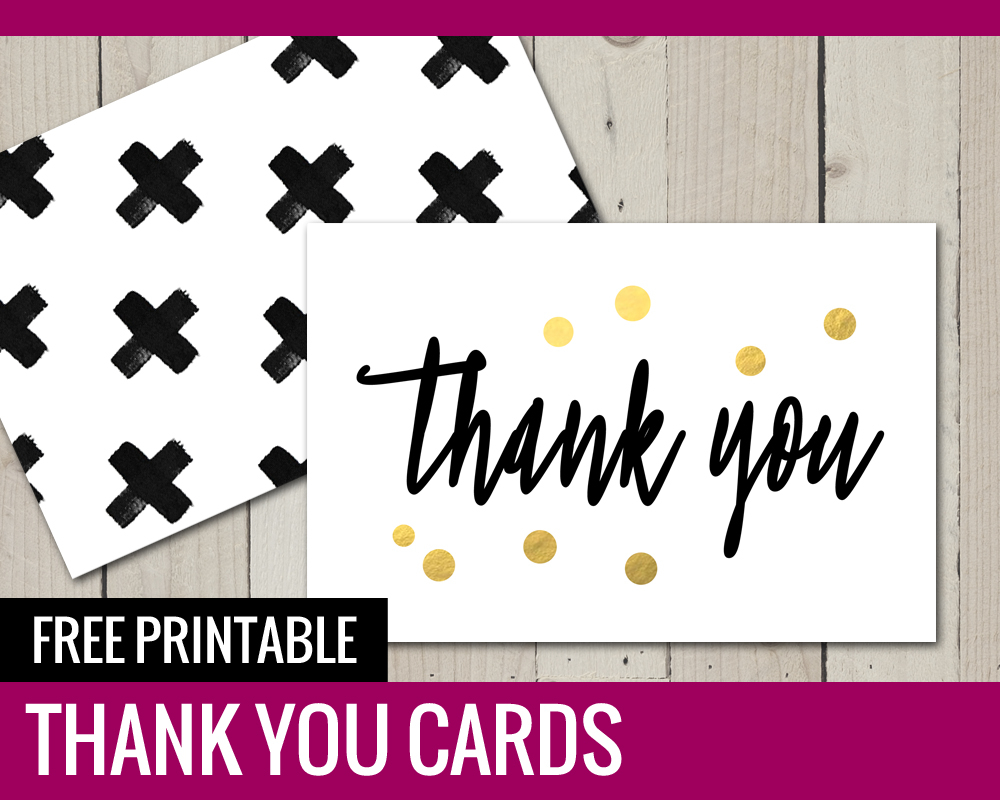 picture regarding Printable Thank You Cards Free known as No cost Printable THANK Oneself Playing cards - Paper and Scenery