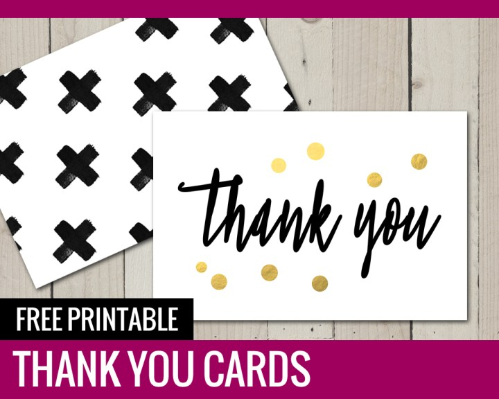 Free Printable Thank You Cards - Paper and Landscapes