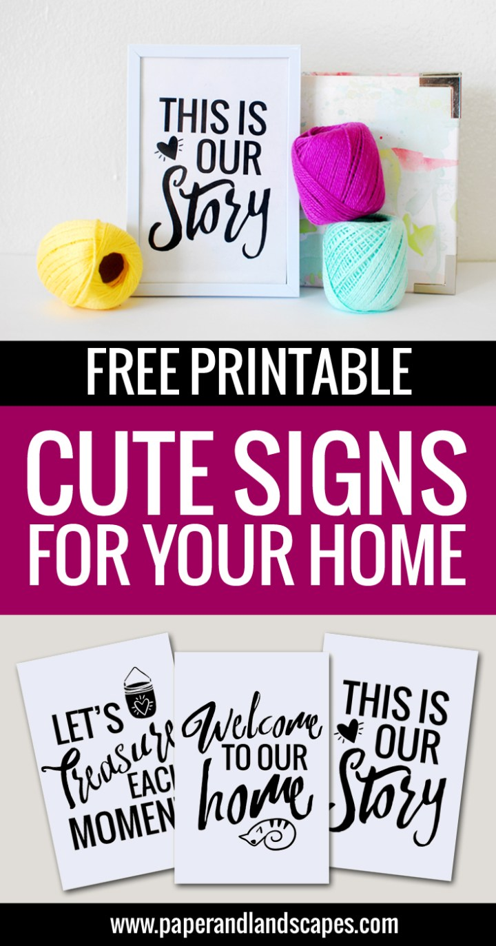Free Printable Signs - Paper and Landscapes