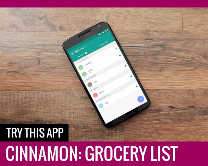 Cinnamon – Grocery Shopping List