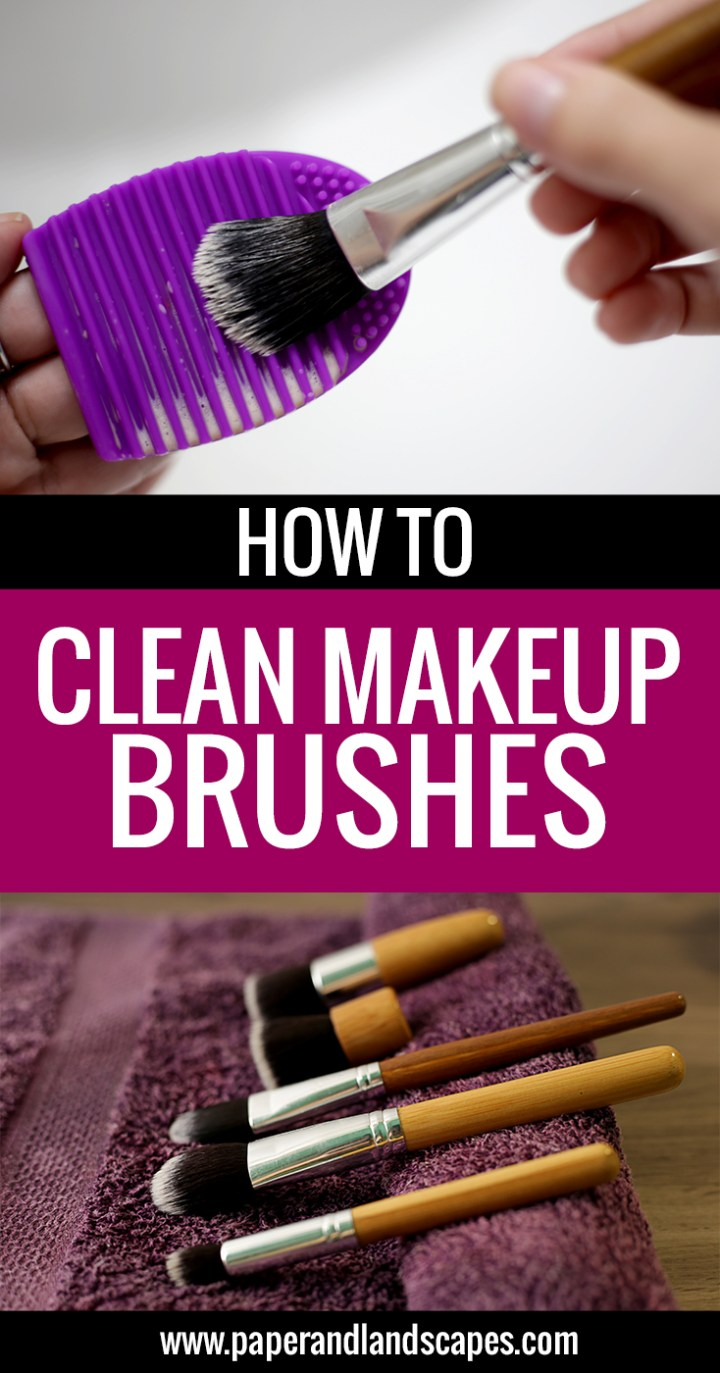 how-to-clean-makeup-brushes-paper-and-landscapes-pinterest