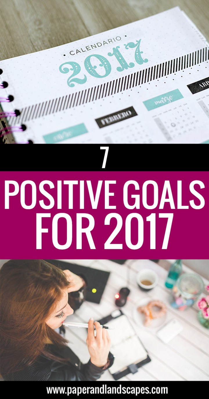 Positive Goals for 2017