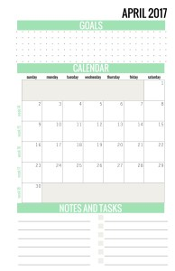 April Calendar 2017 - Paper and Landscapes