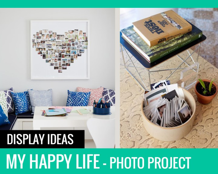 My Happy Life Photo Project: Display Ideas