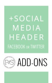 Add-On Products: Social Media Header