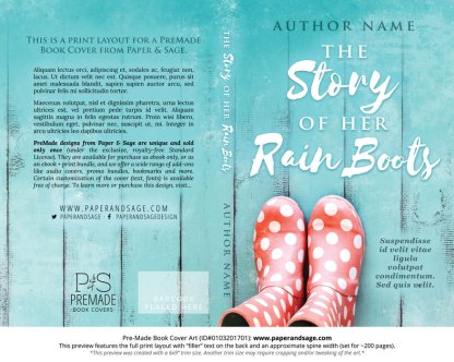 Print layout for Pre-Made Book Cover ID#0103201701 (The Story of Her Rain Boots)