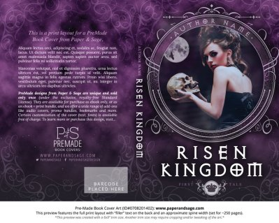 Print layout for Pre-Made Book Cover ID#0708201402 (Risen Kingdom)