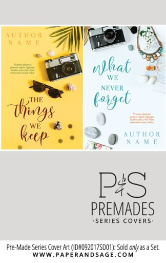PreMade Series Covers ID#092017SD01 (The Things We Keep Series, Only Sold as a Set)